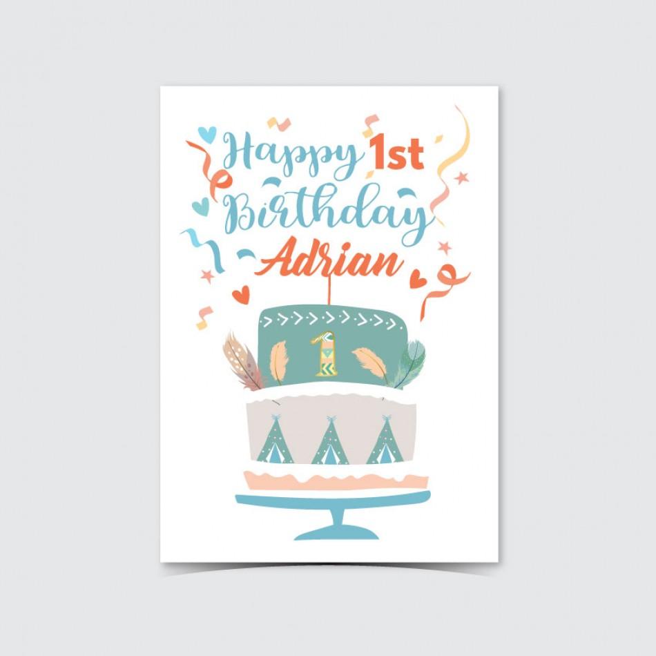 Customized UV Print Birthday Card