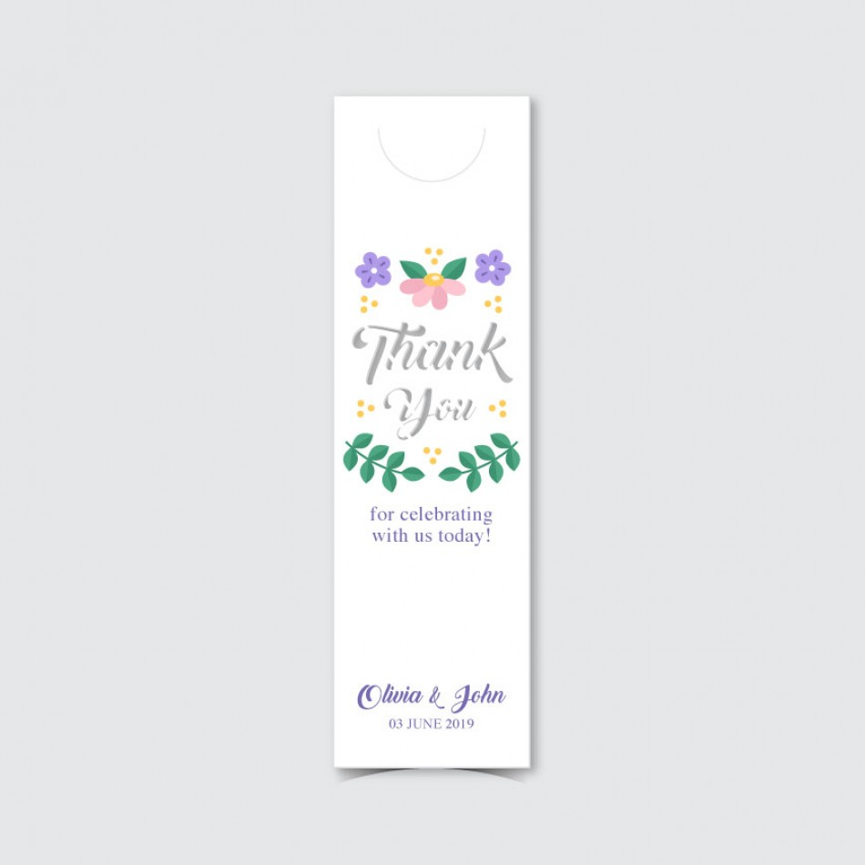 Customized UV Print with Laser Cut Bookmark