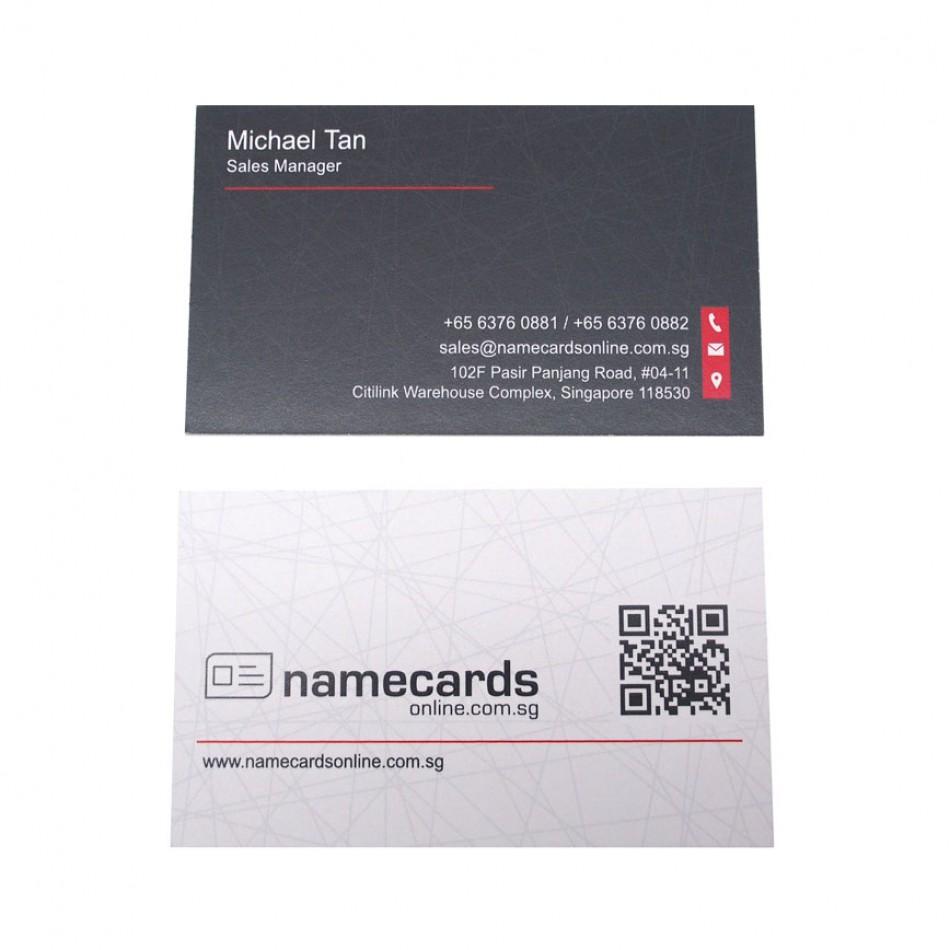 Standard Name Card European Woodfree 250gsm