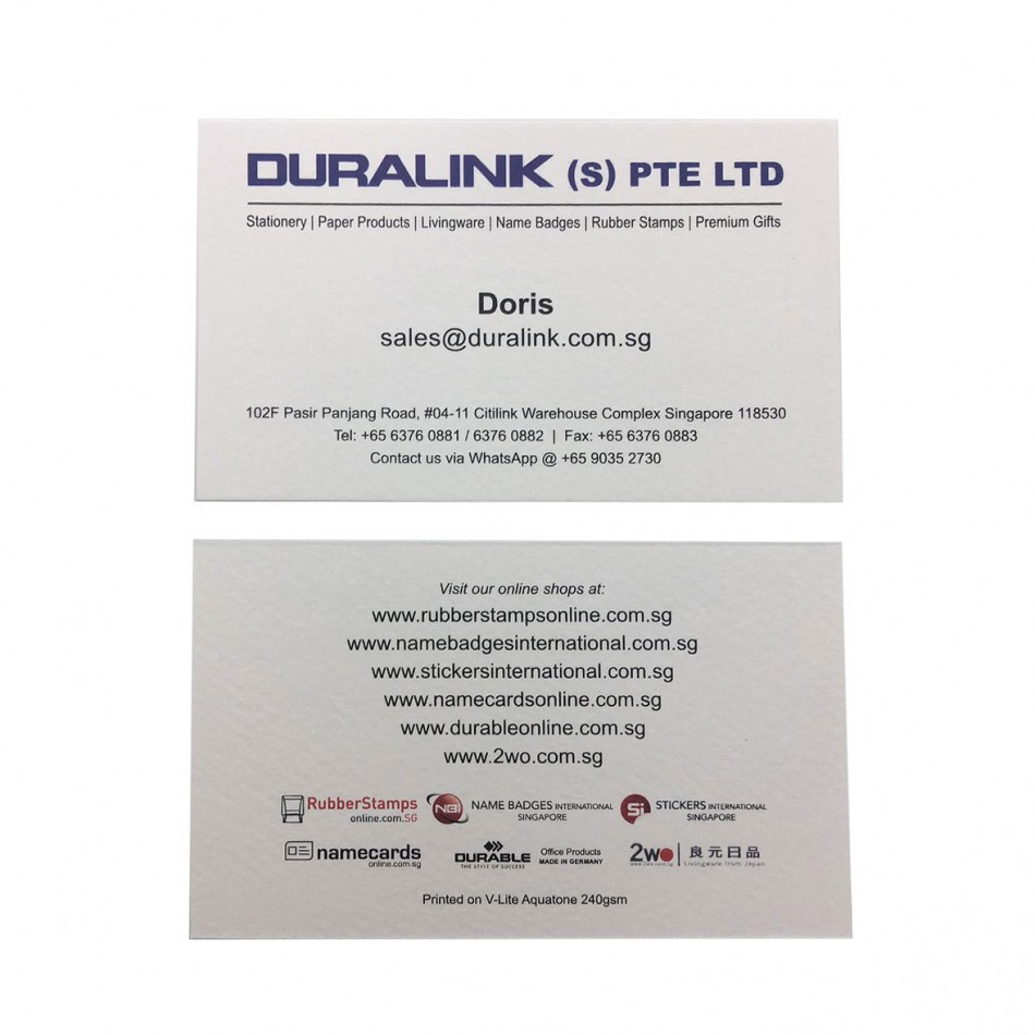 Prestige Name Card V Lite Aquatone 240gsm