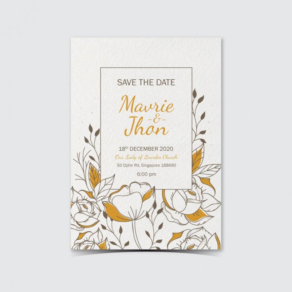 Customized UV Print Wedding Card