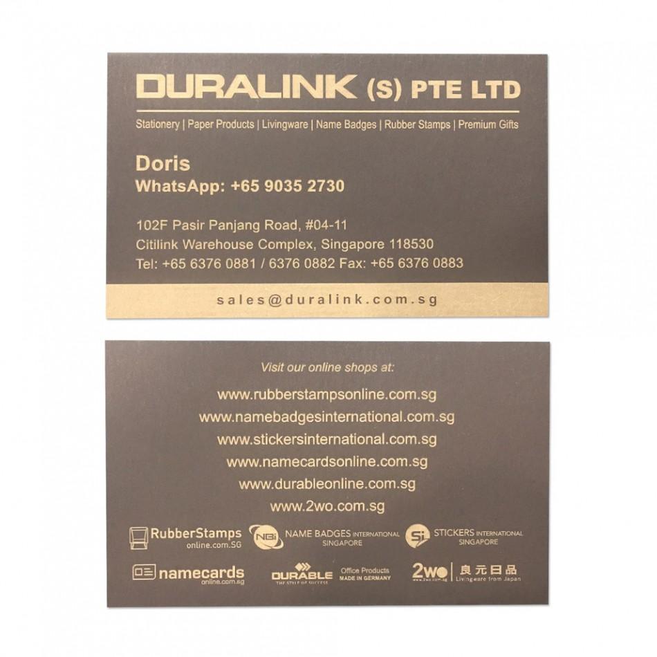 Premium Name Card (Laser) Plike Brown 330gsm