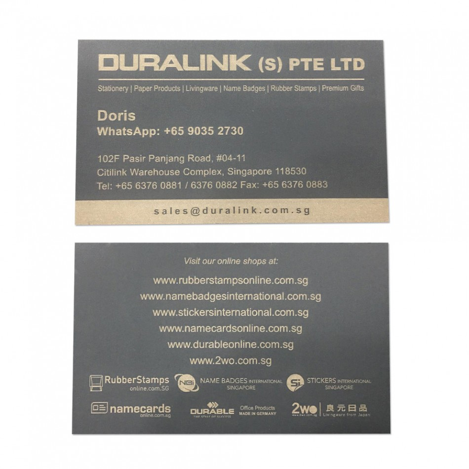 Premium Name Card (Laser) Plike Graphite 330gsm
