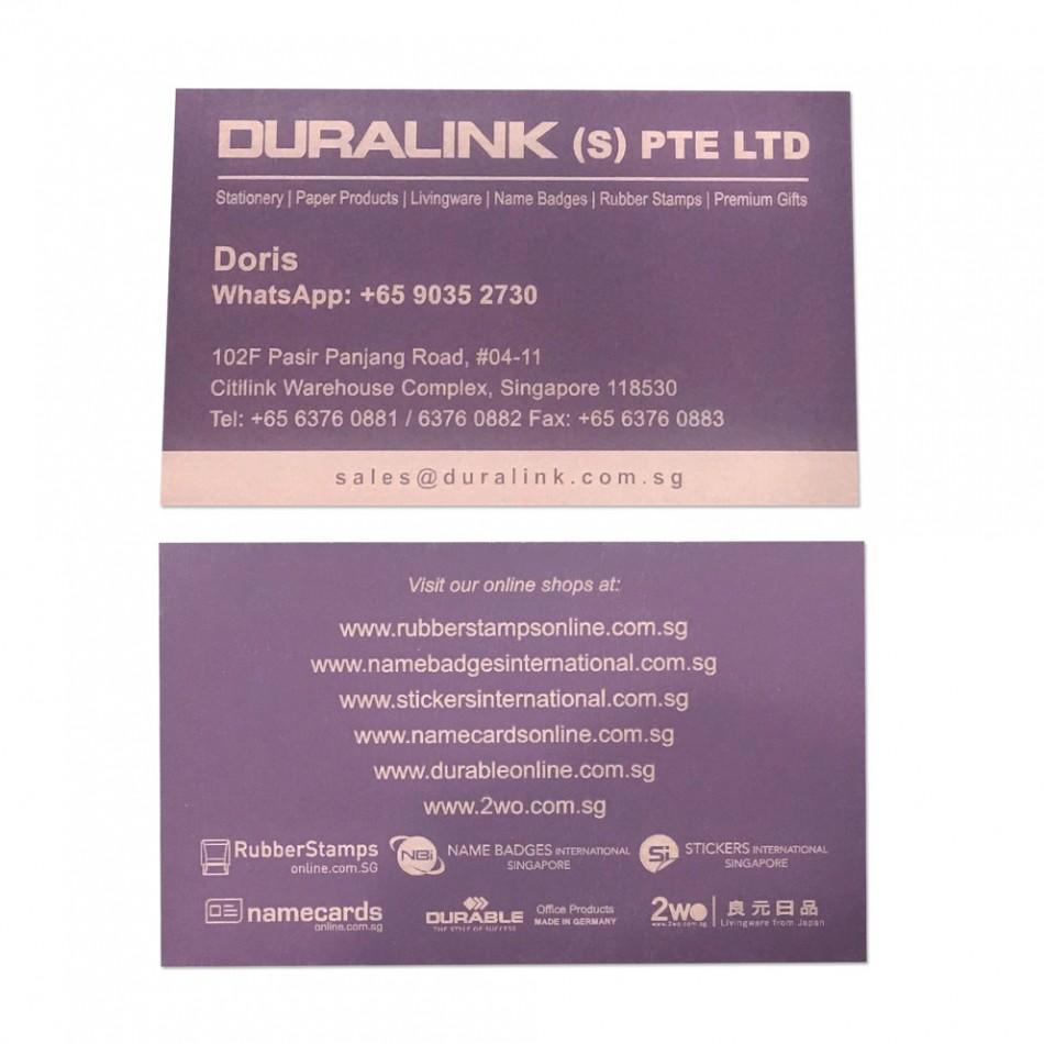 Premium Name Card (Laser) Plike Purple 330gsm