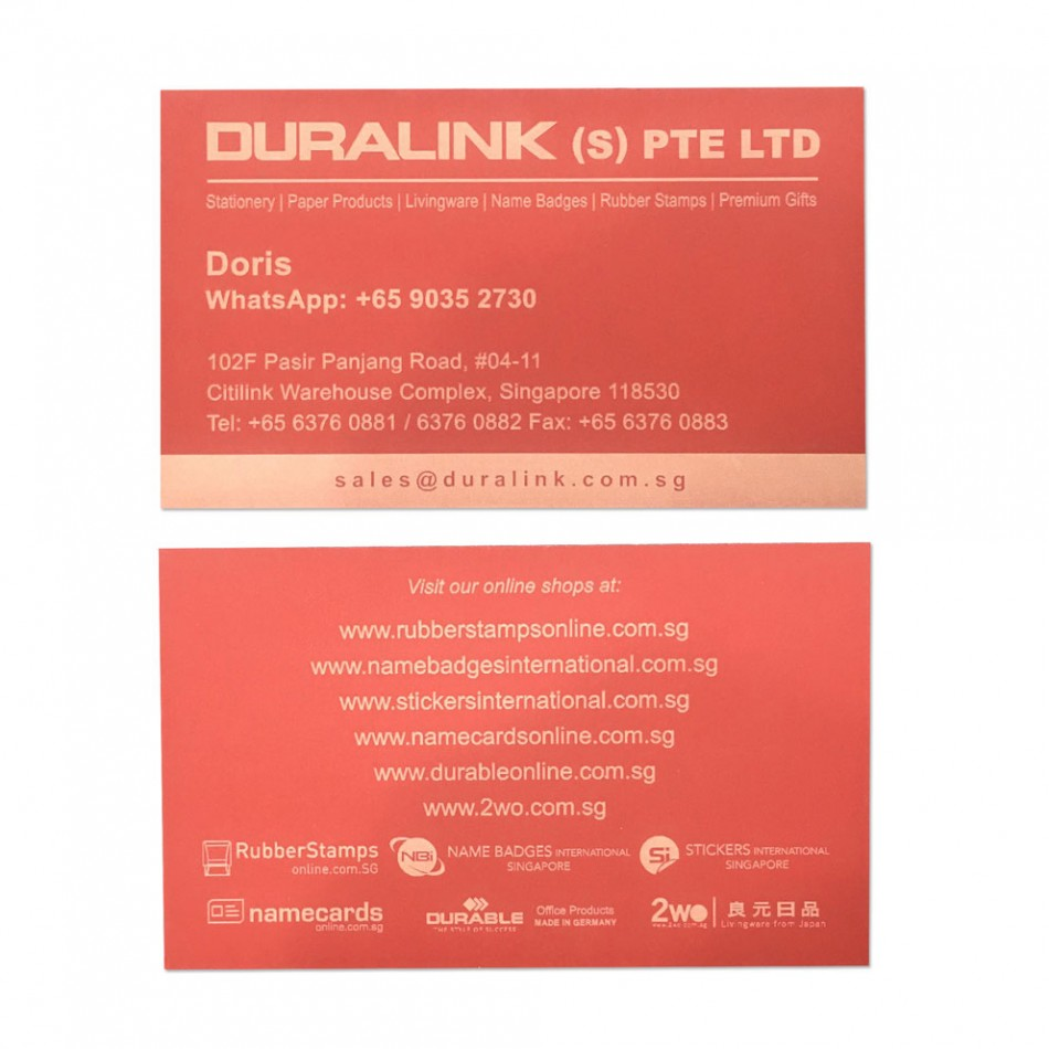 Premium Name Card (Laser) Plike Red 330gsm