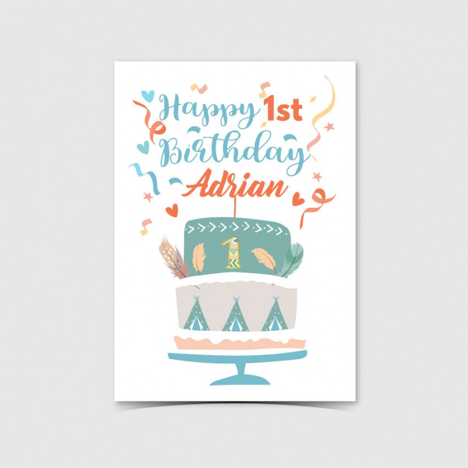Customized UV Print Birthday Card