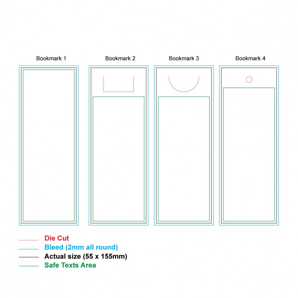 Customized UV Print with Laser Cut Bookmark , Minimum order quantity 10pcs