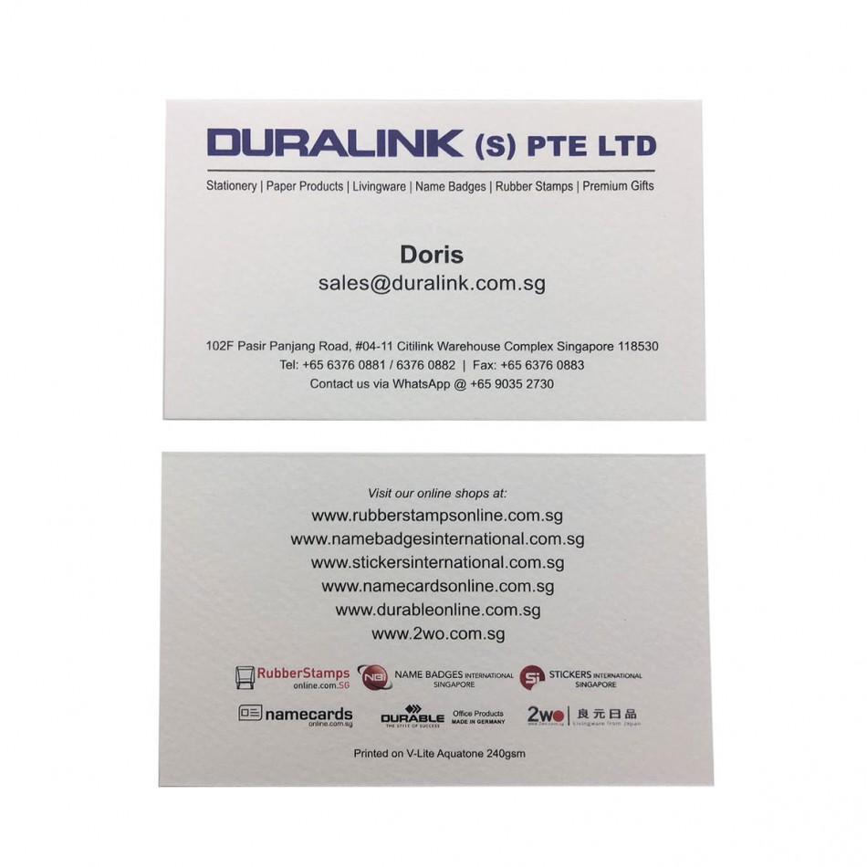 Prestige Name Card V Lite Aquatone 240gsm
