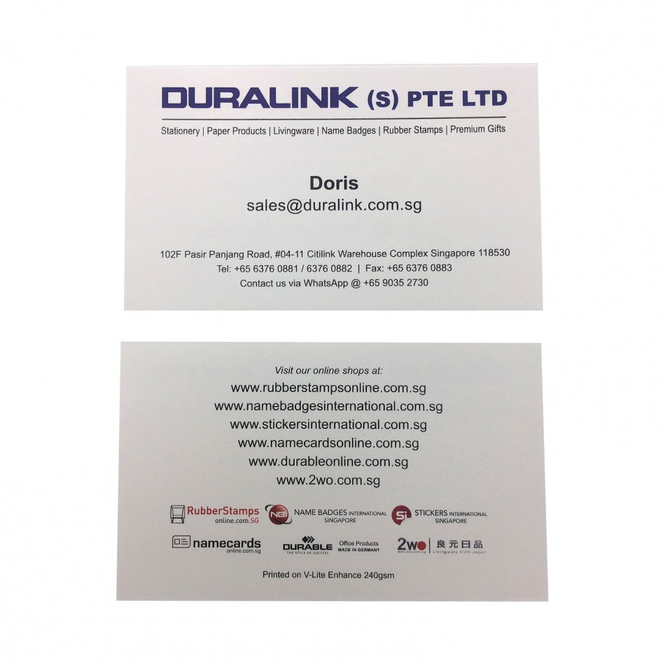 Prestige Name Card V-Lite Enhance 240gsm
