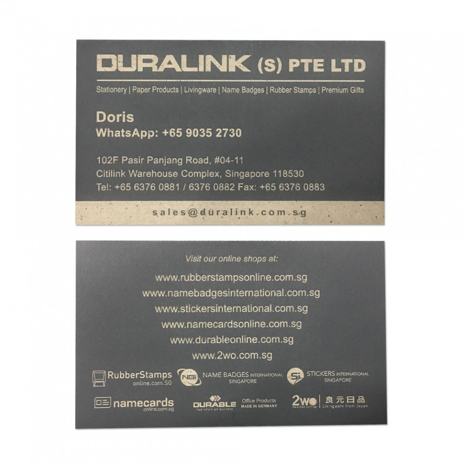 Premium Name Card (Laser) Plike Black 330gsm
