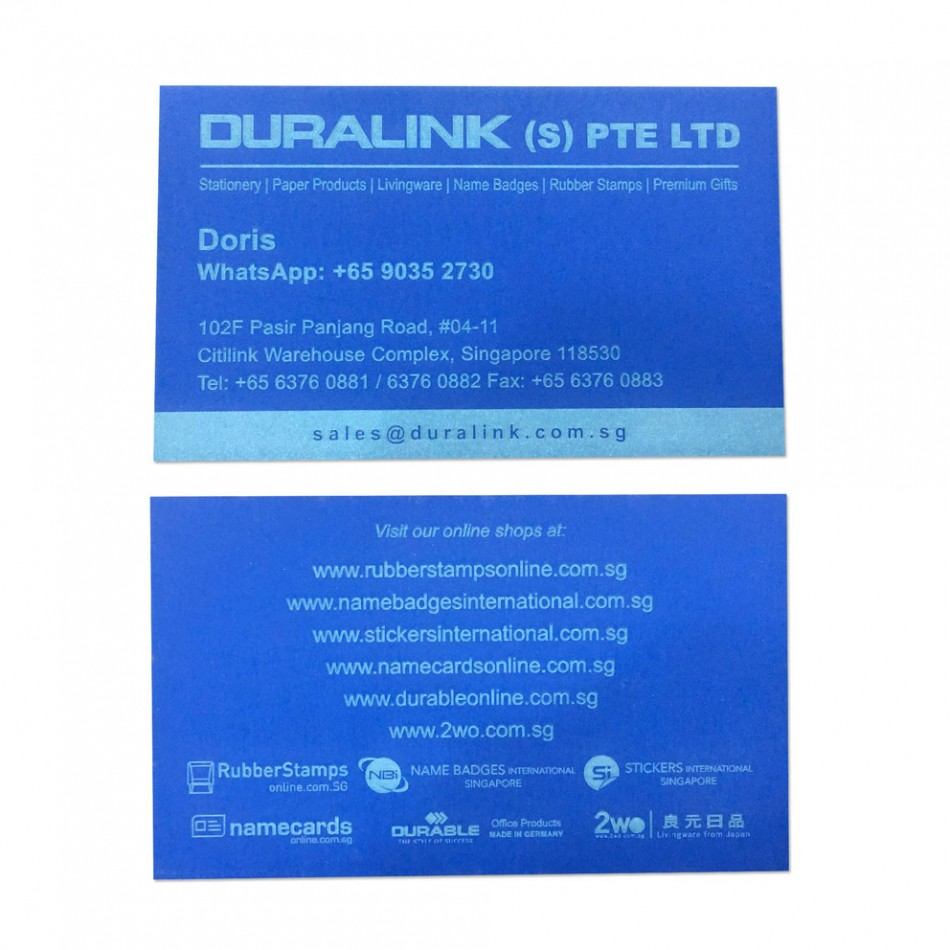 Premium Name Card (Laser) Plike Royal Blue 330gsm