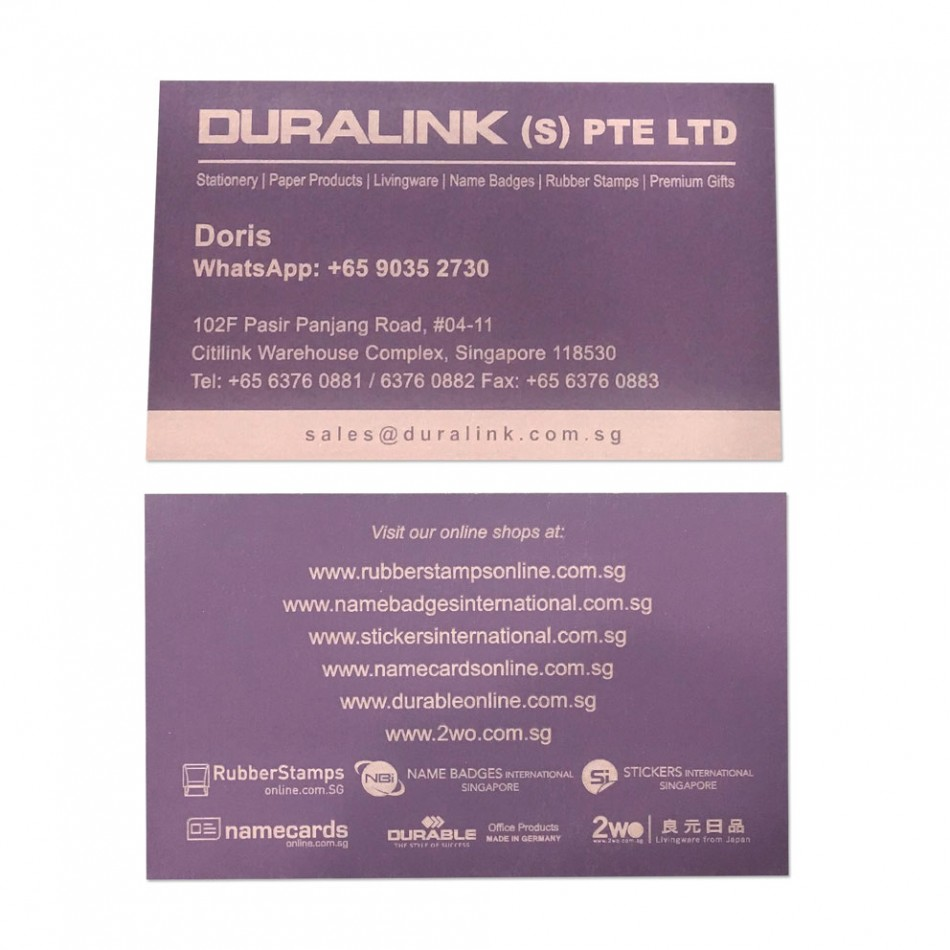 Premium Name Card (Laser) Plike Purple 330gsm