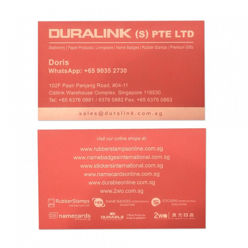 Premium Name Card (Laser) Plike Red 330gsm